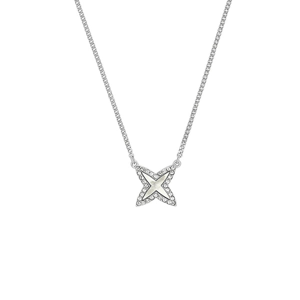 Adore Naturale Pavé Resin 4 Point Star Necklace