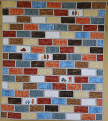 About Town The Brick Wall pattern Gourmet Quilter