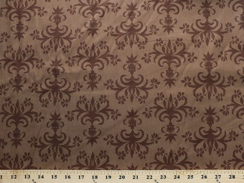 Brown Tone on Tone fabric - Del Hi Chandelier by Valerie Wells for Free Spirit, 1/2 yd