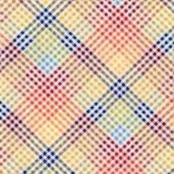 Michael Miller Multi plaid fabric, 1/2 yd
