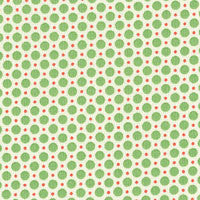Green Spots, 1930s Retro Child Smile by Lecien , 1/2 yd