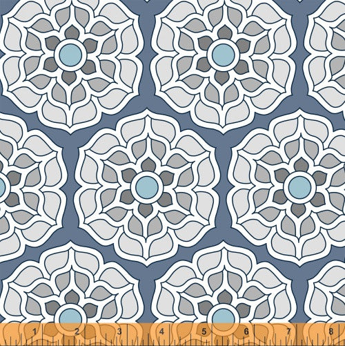 Float in Ice, Cascade Collection from Jessica Levitt for WIndham Fabrics, 1/2 yd