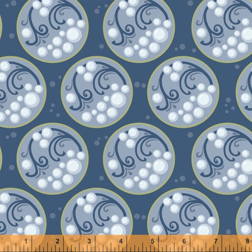 Bubble in Lake Water, Cascade Collection from Jessica Levitt for WIndham Fabrics, 1/2 yd