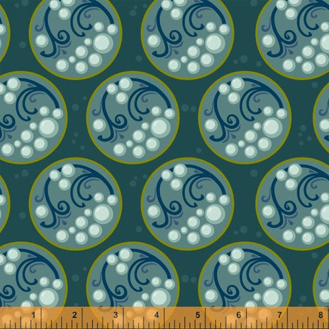 Bubble in Bayou, Cascade Collection from Jessica Levitt for WIndham Fabrics, 1/2 yd