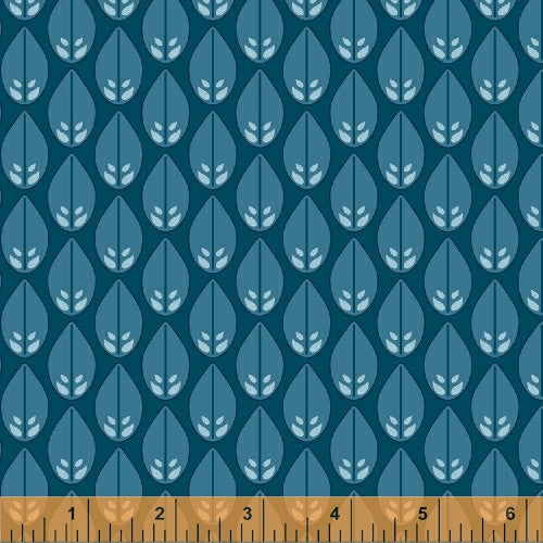 Glisten in Deep Sea, Cascade Collection from Jessica Levitt for WIndham Fabrics, 1/2 yd