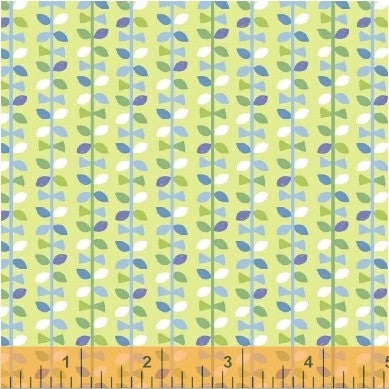 Green Up Down Vines, Mother Goose Tales from Jill McDonald for WIndham Fabrics, 1/2 yd