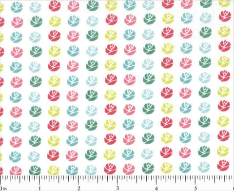 Tiny Roses, DeLovely from Cosmo Cricket for Andover Fabrics, 1/2 yd