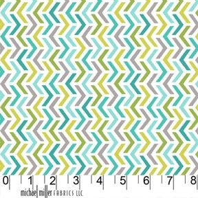 FLANNEL Aqua Ripples, Les Amis Collection from Patty Sloniger for Michael Miller Fabrics, 1/2 yd
