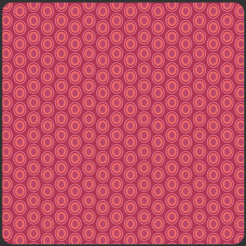 Art Gallery ELEMENTS Ovals - Cranberry OE-913 by Pat Bravo, 1/2 yd