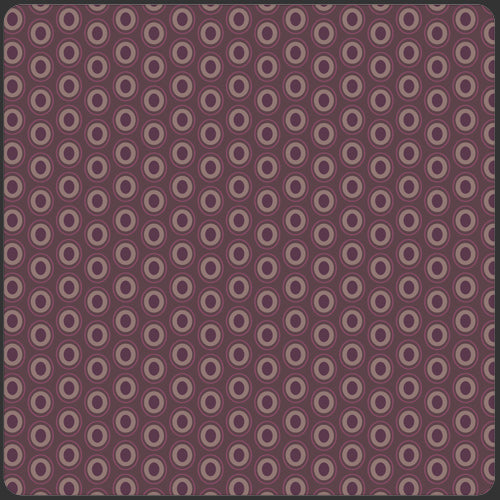 Art Gallery ELEMENTS Ovals - Prune Brown OE-915 by Pat Bravo, 1/2 yd