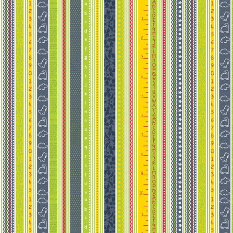 Babysaurus Stripe by Little Yellow Bicycle for Blend, 1/2 yd