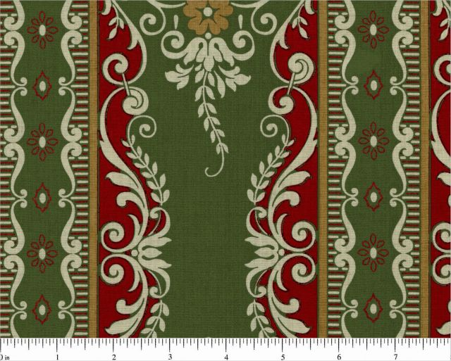 Yuletide FESTIVE STRIPE in Green by Anna Griffin, 1/2 yd