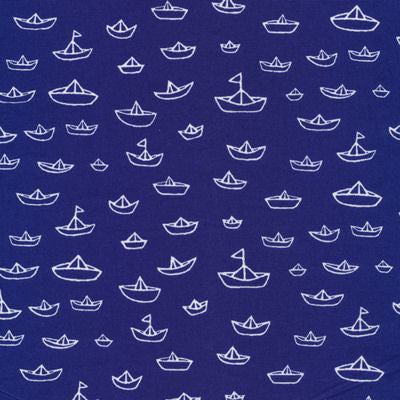 ORGANIC The Fleet in Navy from Seven Seas collection for Cloud 9 Fabrics, 1/2 yd