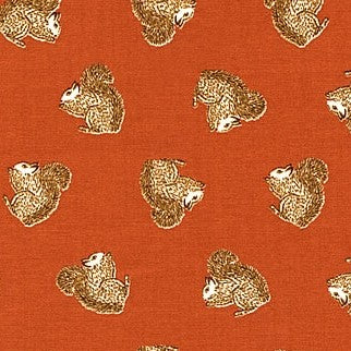 Squirrels in Orange, TOWN & COUNTRY, 1/2 yd