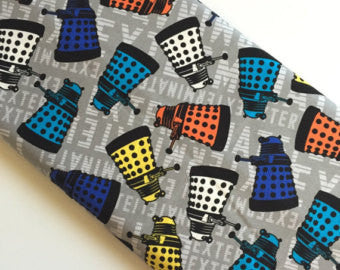 Dr Who Dalek Toss fabric from Springs Creative, 1/2 yd