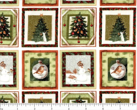 Winter Miracle Check by Marjorie Bastin, 1/2 yd