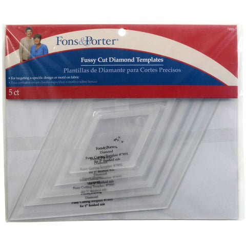 Fons & Porter Fussy Cut Diamond Templates