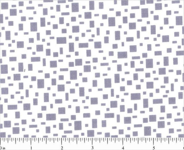 Grey Shirting Squares, In Plain Sight from Kathy Hall for Andover Fabrics, 1/2 yd
