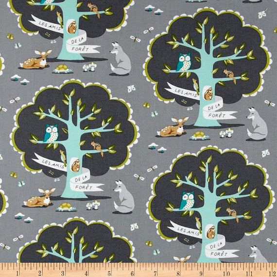 Trees, Les Amis Collection from Patty Sloniger for Michael Miller Fabrics, 1/2 yd