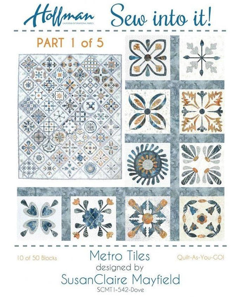 Metro Tiles - Quilt-As-You-Go Kit #1 of 5