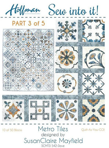 Metro Tiles - Quilt-As-You-Go Kit #3 of 5