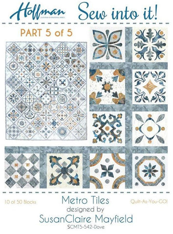 Metro Tiles - Quilt-As-You-Go Kit #5 of 5