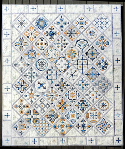 Metro Tiles Quilt - Border PATTERN only