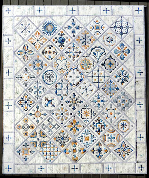 Metro Tiles Quilt - COMPLETE PATTERN BOOK -Includes Border Pattern