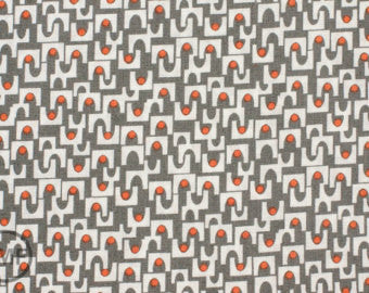 ORGANIC MicroMod Arches in Grey by Rob Bancroft for Cloud 9 Fabrics, 1/2 yd