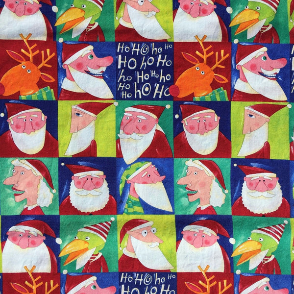 Christmas Fabric - Santa & Elves by Nancy Wolff, 1/2 yd