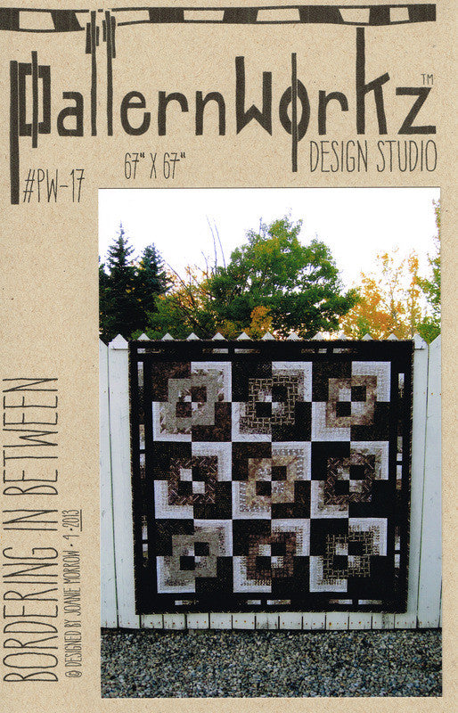 "PatternWorkz PW-17 BORDERING IN BETWEEN quilt pattern 67""x67"""