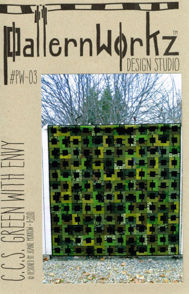 "PatternWorkz PW-03 C.S.S. GREEN WITH ENVY quilt pattern 72""x72"""