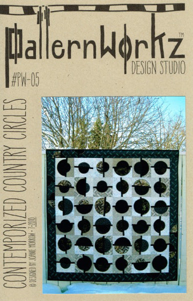 "PatternWorkz PW-05 CONTEMPORIZED COUNTRY CIRCLES quilt pattern 63""x63"""