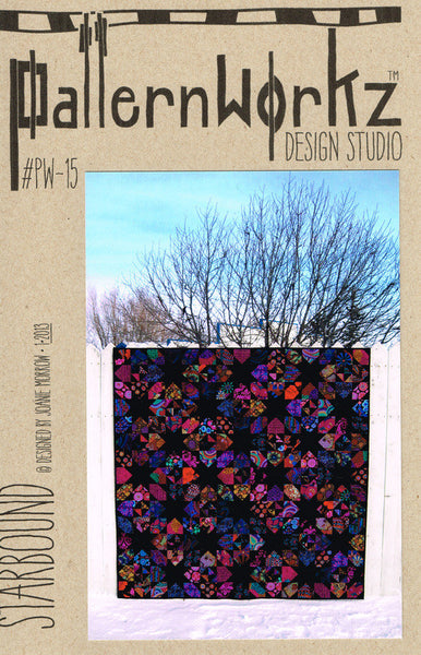"PatternWorkz PW-11 C.S.S. WHYTE-LITE-NING quilt pattern 82""x94"""