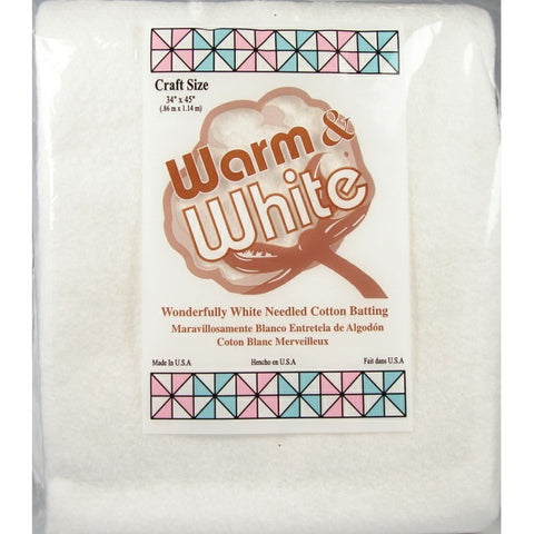 "The Warm Company Cotton Needled Batting - Craft Size pkg 34"" x 45"""