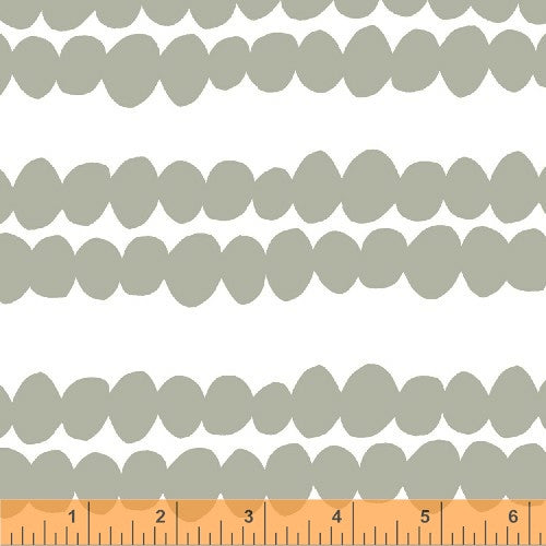 Redig Bead Stripe Light Grey, BELLA Collection from Lotta Jansdotter for WIndham Fabrics, 1/2 yd
