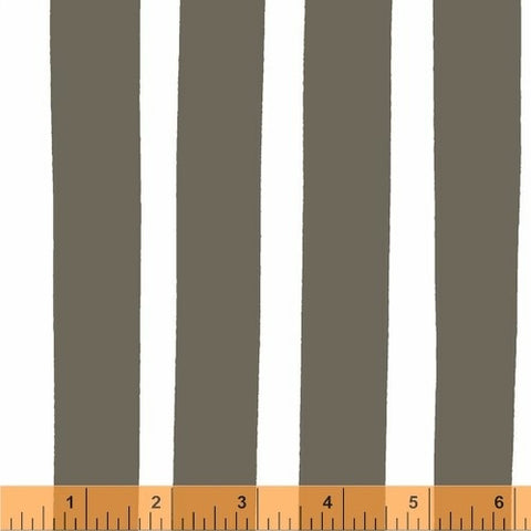 Finn Bold Stripe in Grey, BELLA Collection from Lotta Jansdotter for WIndham Fabrics, 1/2 yd