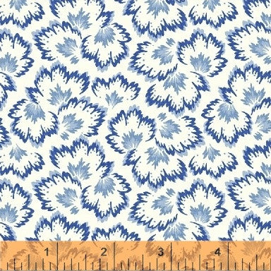 Bluebell 40127-3 by Nancy Gere, from Windham - 1/2 yard Blue on White
