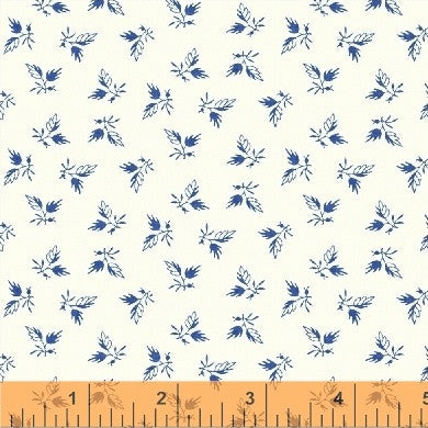 Bluebell by Nancy Gere, from Windham - 1/2 yard bundle of 4 fabrics, Blue & White