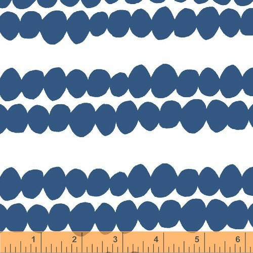 Redig Bead Stripe Cornflower, BELLA Collection from Lotta Jansdotter for WIndham Fabrics, 1/2 yd
