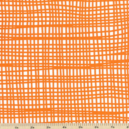 Mat in Orange, BELLA Collection from Lotta Jansdotter for WIndham Fabrics, 1/2 yd