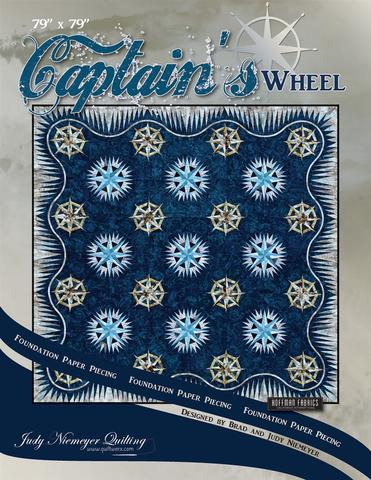 Captain's Wheel foundation paper piecing pattern - Quiltworx