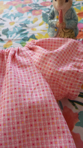 Retro 30s Child Smile tiny PINK CHECKS 31145 from Lecien Fabrics, 1/2 yd