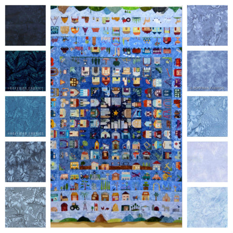 PRE-ORDER!  BACKGROUND FABRIC Bundle for That Town & Country Quilt - Block of the Day