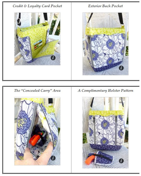 The Guardian bag Pattern - Concealed Carry by Studio Kat Designs 3100