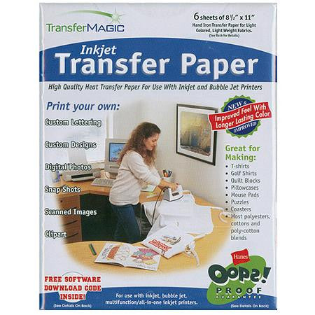 Transfer Magic Inkjet Transfer Paper