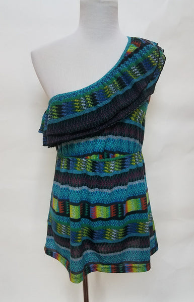 Aztec Neon One Shoulder Top