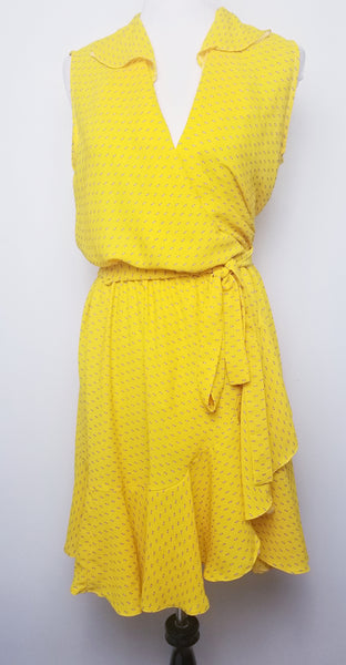 Sunflower Wrap Dress