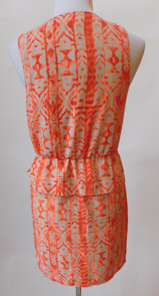 Peach Tribal Tie Dress