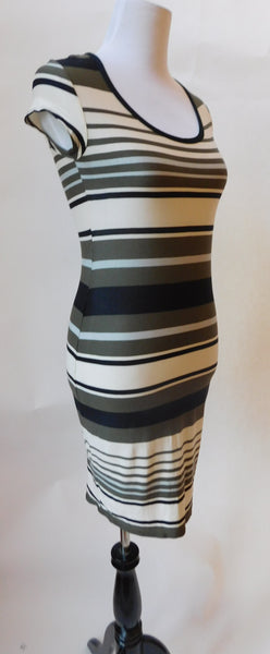 K & D London Striped Tee Dress